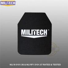 """MILITECH Panel de cuerpo balístico NIJ III + 0101,06/NIJ 0101,07 RF1 PE puro 10 """"x 12"""" AK47 lámina UHMWPE independiente a prueba de balas"""