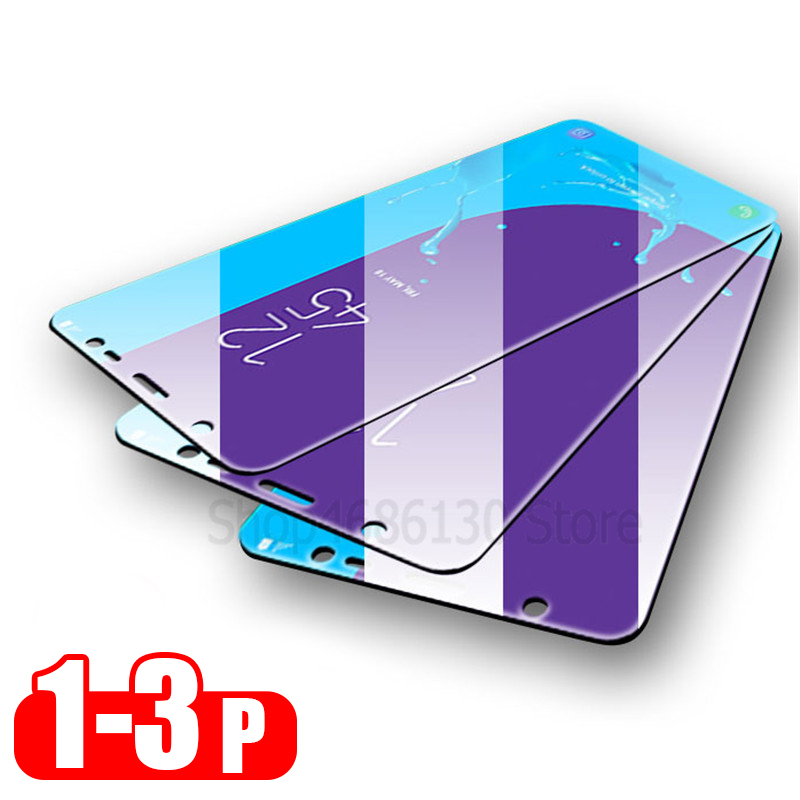 Protective-Glass Screen-Protector Samsung J6 J4 J4-Plus for Galaxy A7 A9 3-1pcs A6 A8
