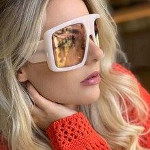 Celebrity Large Shield Square Sunglasses Women Brand Oversiz