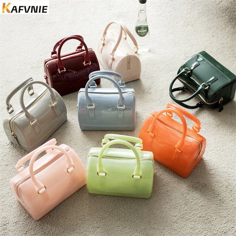 KAFVNIE Purse Satchel-Bag Jelly-Handbag Tote Beach Candy-Colors Girls PVC Silicon Size title=