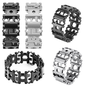 Image 3 - EDC 29 In 1 Multi function Tread Bracelet Tool Wearable Strap Screwdriver Outdoor Survival Emergency Kit Multi Wtach Chain