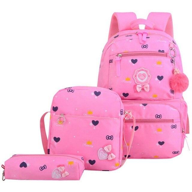 Kids Schoolbags Mochila Infantil Children Girls Princess School Backpack Orthopedic Primary Backpack School Bags | american doll