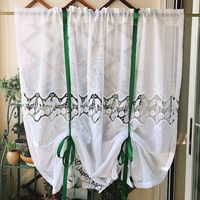 1pc Ins French pastoral style Finished small curtains Lifting curtains Balloon curtains Door Curtains Partition curtains