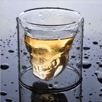 4 rozmiary szklanka w formie czaszki przezroczysta szklana główka piwo kieliszek do whisky mleko wino wódka szkło mleko do wódki i whisky piwo koktajl picie tanie i dobre opinie OLOEY CN (pochodzenie) ROUND Szklanki na piwo Solid color teacup coffee house High borosilicate currency single Transparent