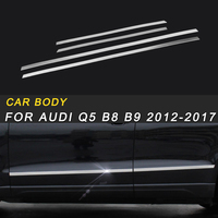 Car Styling Door Gate Side Body Cover Trim Frame Sticker Chrome Exterior Accessories For Audi Q5 B8 B9 2012 2017