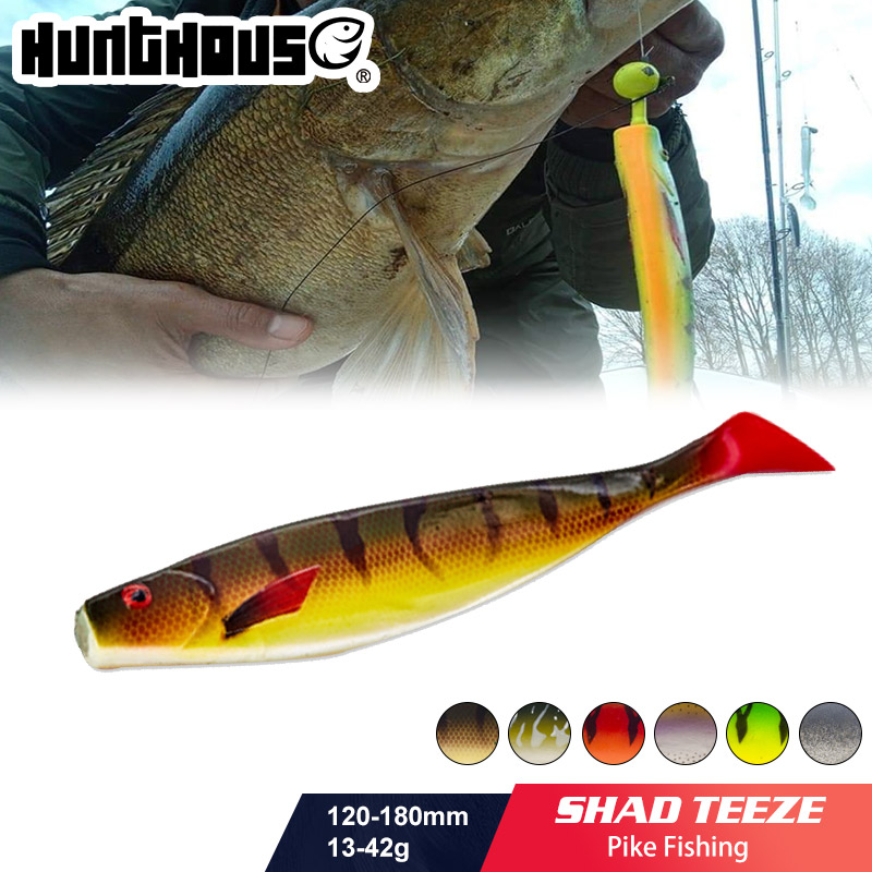 HUNTHOUSE fox rage <font><b>big</b></font> soft lure 12cm 15cm 18cm pro shad lure berserk sea bass fishing for pike zander lead head and hook image