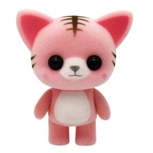 Cute Animals Portable Children Toy Home Ornament Automobile Decoration Plastic Flocking Toys Mini PVC Dolls