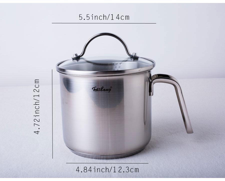 1,5 кварт 18/10 кастрюля из нержавеющей стали с Изливом, мини-кастрюля для молока с изливом-идеально подходит для кипячения молока, соуса, гравюр