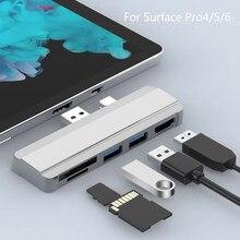 Station d'accueil pour adaptateur de moyeu USB 3.0 pour Microsoft Surface Pro 4/5/6 multi-usb vers USB 3.0 compatible HDMI répartiteur de carte SD/TF