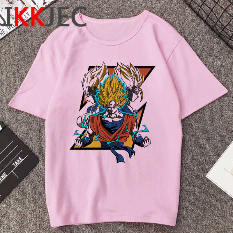 Hot Koop Dragon Ball Z Hiphop T-shirt Mannen Super Saiyan Grappige Cartoon T-shirt Zoon Goku Kawaii Anime Tshirt hip Hop Top Tees Man