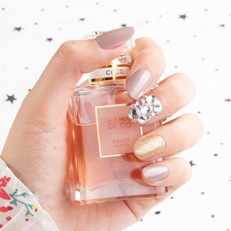 24 unid color unha dicas mulher wearable falsa imprensa em unhas com diamante curto redondo cobertura