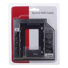 2nd HDD Caddy 12.7mm Aluminum Optibay SATA 3.0 Hard Disk Drive Box Enclosure DVD Adapter 2.5 SSD 2TB For Laptop CD-ROM цена и фото