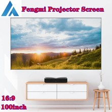 Fengmi 16:9 100Inch Projector Scherm Zachte Gordijn 4K Hd Tv Movie Hologram Anti-Licht Stof Smart Home zwart Home Theater Laser