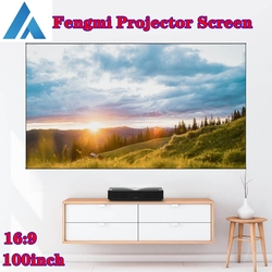 Fengmi 16:9 100inch Projector Screen Soft Curtain 4K HD TV Movie Hologram Anti-light Fabric Smart Home Black Home Theater Laser