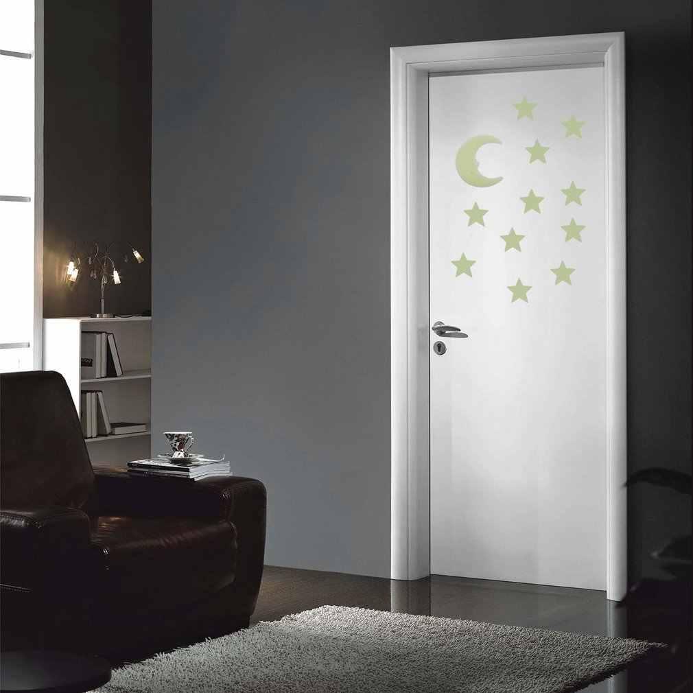 DIY светящаяся флуоресцентная наклейка настенные стикеры в виде звезд, Луны, светящийся стиль в темноте, для дома, детской комнаты, спальни, украшения стен, подарки