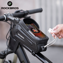Bicycle-Bag Bike-Accessories Phone-Case Front-Tube-Frame MTB Touch-Screen ROCKBROS Waterproof