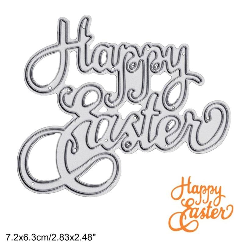 Happy Easter Eggs Metal Steel Cutting Dies Stencil DIY Scrapbooking Paper Card Embossing Die Stamps And Dies For Card Making