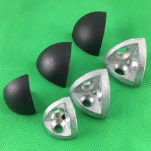 Conector tridimensional con tapa de extremo ABS para Perfil de extrusión de aluminio, tornillos y tapas incluidos, 2020, 3030, 4040, 4545