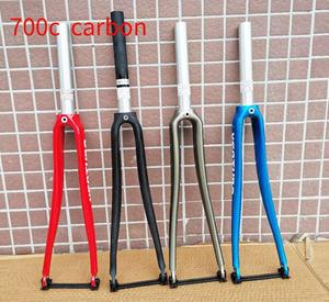Last high-quality Cycling Bicycle Parts Bicycle Fork road bike fork carbon+aluminium cycling parts 700c forks gloss bike parts