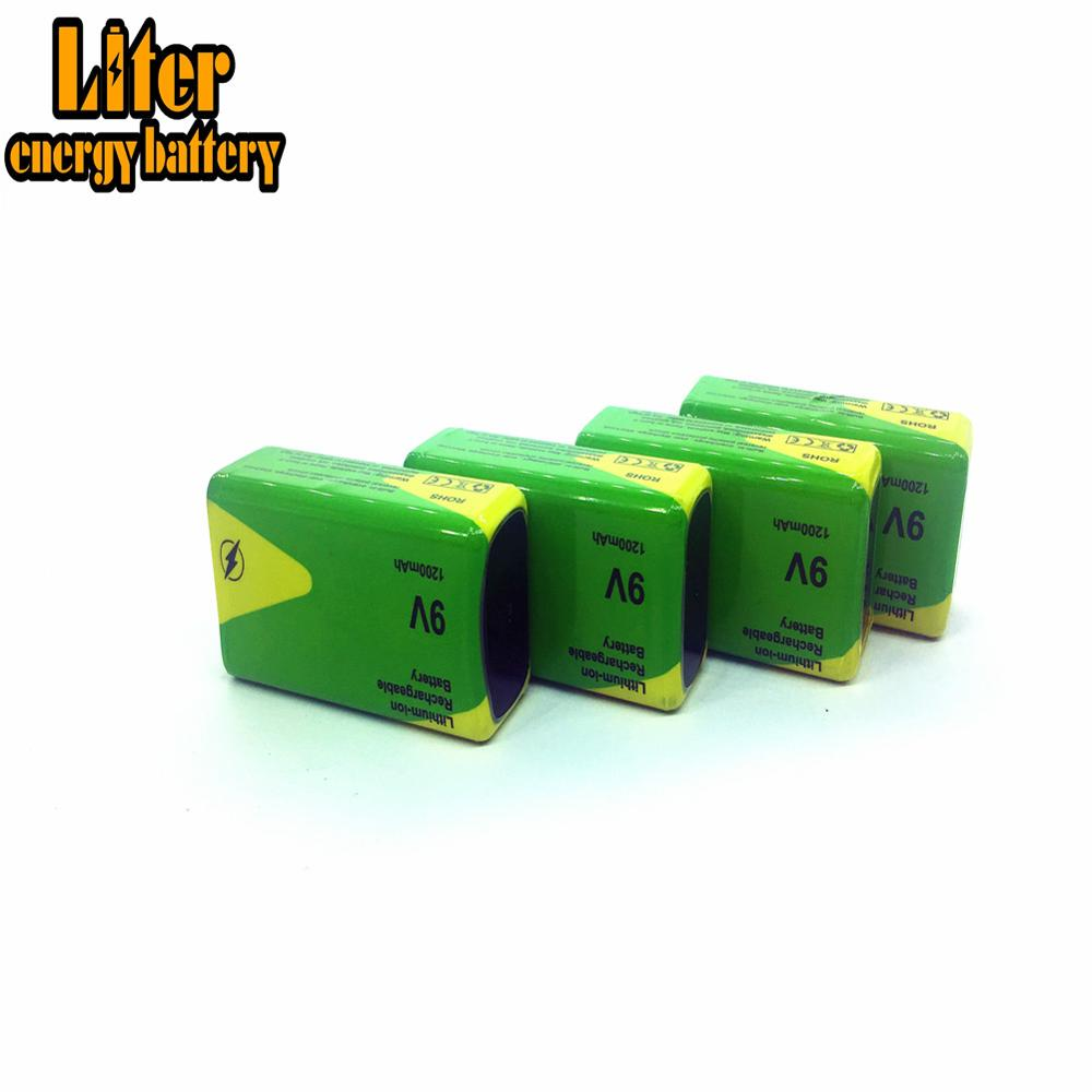 Low price high quality <font><b>9V</b></font> <font><b>1200mAh</b></font> rechargeable battery for instruments Ni-MH battery packs For Toys Smoke lithium ion battery image
