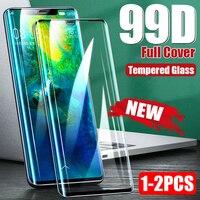 Protector de pantalla de cristal templado curvo para Huawei, película de vidrio templado 99D para Huawei P30 P40 P20 P10 Pro Mate 30 10 20 Lite P Smart 2019