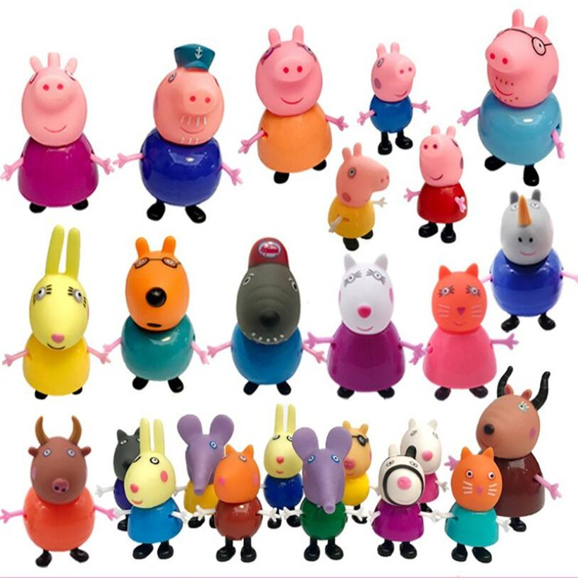 Fashion Styles Peppa Pig Toys George Family Full Role Action Figure Model Pelucia Children Birthday Gifts