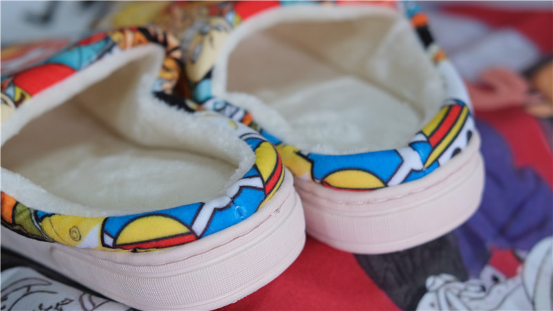 Winter Home Slippers Luffy Man Women Slippers Japanese Cartoon Slipper Anime NARUTO ONE PIECE Pantufa Zapatilla 47s