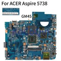 KoCoQin 48.4CG10.011 Laptop motherboard For ACER Aspire 5738 5738G DDR3 Mainboard JV50 MV M96 09925 1 48.4CG10.011 GM45