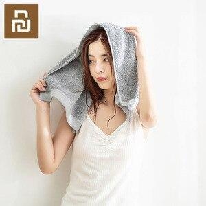 Image 2 - Toalla antibacteriana Youpin COMO LIVING de fibra negra y plateada suave y cómoda toalla absorbente y duradera de 32x76cm