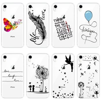 Case For iPhone 6 S 6S 7 8 X XR XS Max Soft Silicone Quote Tinker Bell Love Back Cover For iPhone 6 S 6S 7 8 Plus Phone Case image