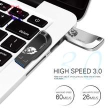 Pen drive 32gb 16gb 8gb da movimentação 3.0 da pena do flash de usb pen drive 128gb usb pendrive memória pendrive 64 gb disco de usb do ciclo de 256 gb com anel chave