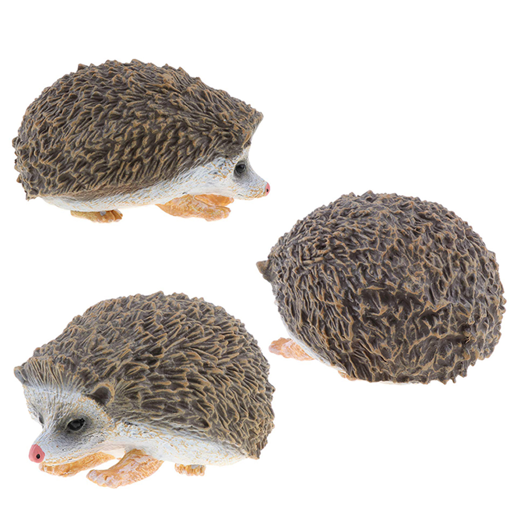 Toy Figurine Table-Decor Hedgehog Education Simulate Animal-Model Art-Crafts Gift Children