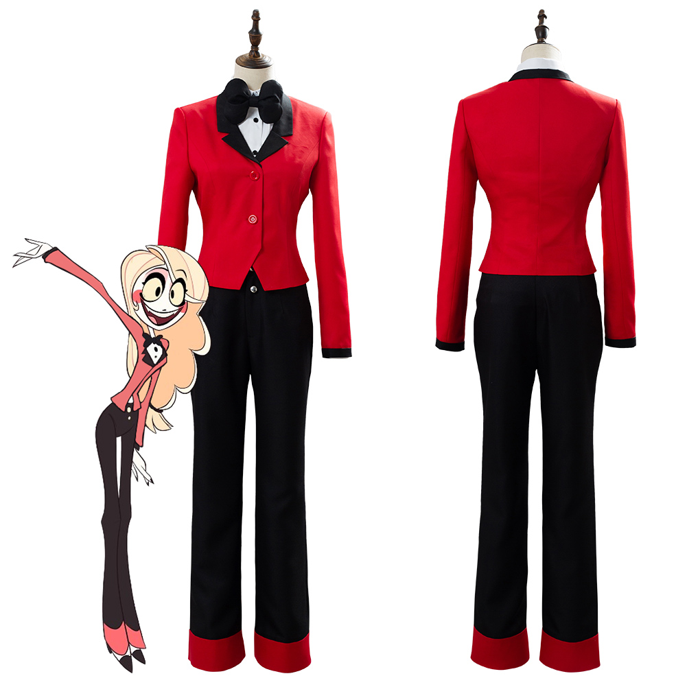 Hazbin Cosplay Hotel CHARLIE Cosplay Costume Uniform Female Halloween Carnival Christmas Red Suit Custom Made