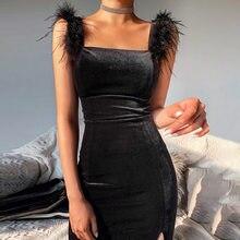 WannaThis – robe moulante sans manches pour femme, tenue féminine élégante, Sexy, col carré, noble, fête, Slim, fendue sur les épaules