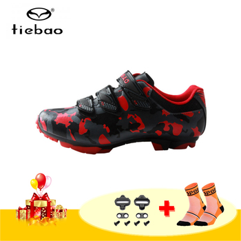 TIEBAO cycling shoes men sapatilha ciclismo mtb riding bicycle sneakers self-locking breathable men SPD Mountain bike shoes