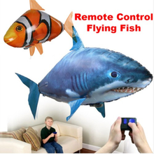 Remote Control Shark Toys Air Swimming Fish Infrared RC Flying Air Balloons Clown Fish Toy Gifts Party Decoration RC Animal Toy