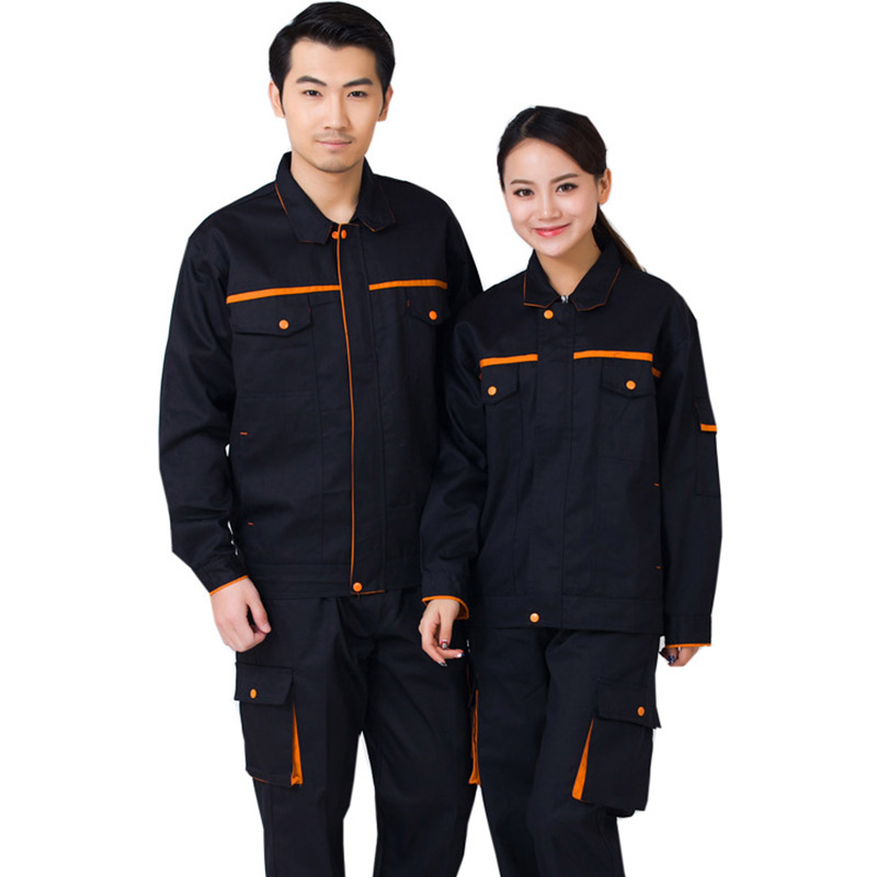 Men Women Work Clothing Sets Long Sleeve Wear resistant  Jackets+Pants Factory Uniforms Protection Auto Repair Spring Autumn|Safety Clothing| |  - title=