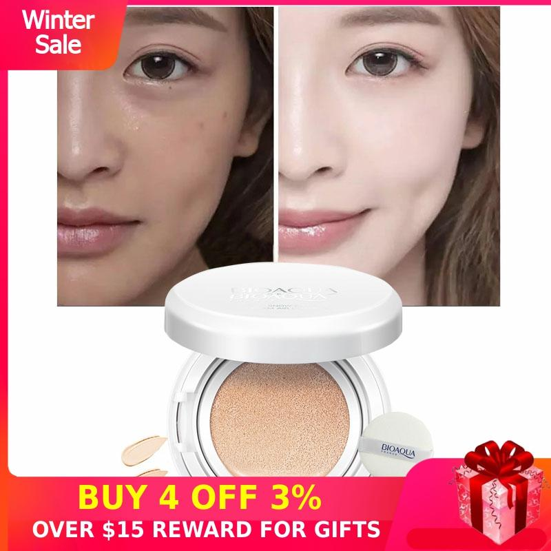 Concealer BB Cream Cushion Whitening CC Makeups Korean Cosmetics Waterproof Covering Foundation Brighten Face Base Tone Womens P
