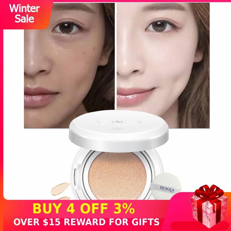 Concealer BB Cream Cushion Whitening CC Makeups Korean Cosmetics Waterproof Covering Foundation Brighten Face Base Tone Womens P