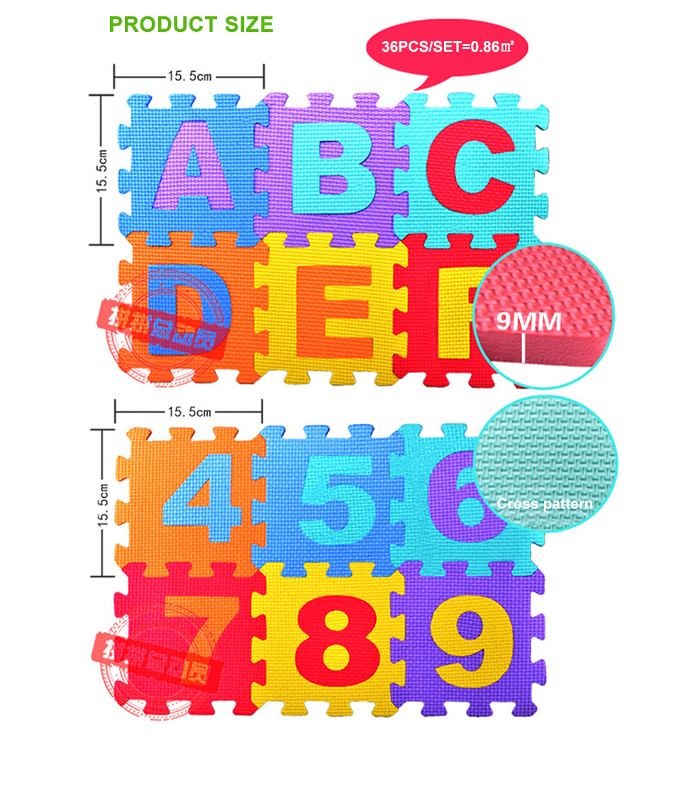 He114210647454f8da44bf967631bd359f Baby Play Mat 36pcs/Set EVA Baby Foam Clawling Mats Puzzle Toys For Kids Floor Mat Number Letter Childrens Carpet 15.5*15.5cm