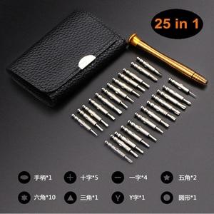 Image 1 - Juego de herramientas de reparación de teléfonos Torx, destornillador 25 en 1, PRECISIÓN DE APERTURA multifuncional para IPhone, Samsung, Huawei, Xiaomi, Tablet y PC