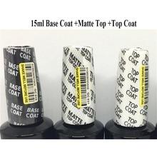15ML/0.5fl.Oz GelColor Soak Off Gel Rubber Base Coat Top Coat Primer opies Matte