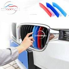 ل BMW 3 4 5 7 سلسلة 3GT 5GT 6GT F30 F34 F36 F10 G30 G11 G20 G32 M 3 اللون الجبهة الكلى هواية ألومنيوم شبكة المبرد غطاء تقليم