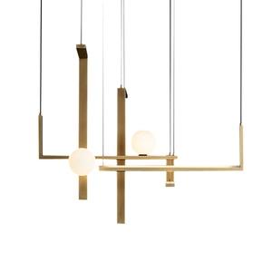 Современные стеклянные шаровые подвесные светильники для гостиной, подвесные светильники для столовой, гостиной, дизайнерские подвесные с...