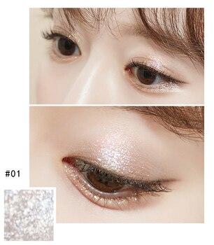 14 Color Shine Pearlescent Glitter Silver Eye Shadow Highlighter Makeup Lasting Monochrome Brighten Liquid Eyeshadow Cream TSLM1 4