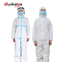 High Quality Disposable Antibacterial Plastic Closures Isolation Suit Protective Clothing Dust-proof Coveralls Antistatic