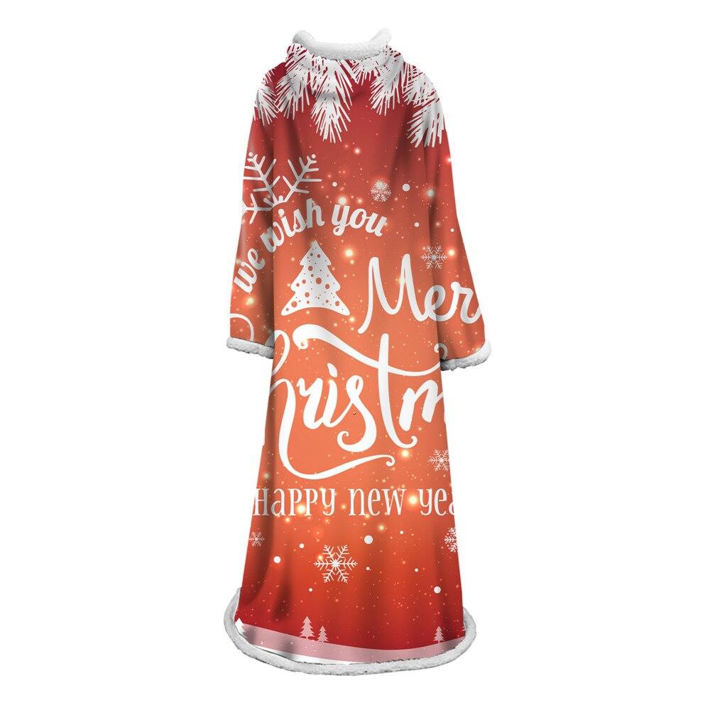 Рождественское Фланелевое теплое многоразовое мягкое многофункциональное декоративное одеяло, легко чистится, быстросохнущее, с принтом, ...