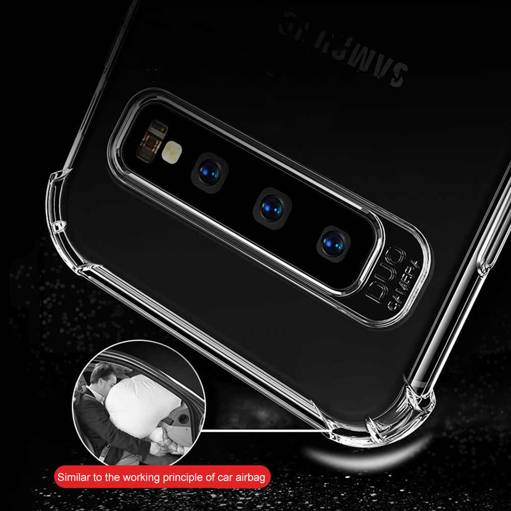 Darbeye dayanıklı durumda Samsung Galaxy S8 S9 S10 artı not 8 9 10 Pro M30 A10 A20 A30 A40 a50 J8 2018 yumuşak silikon kapak Coque