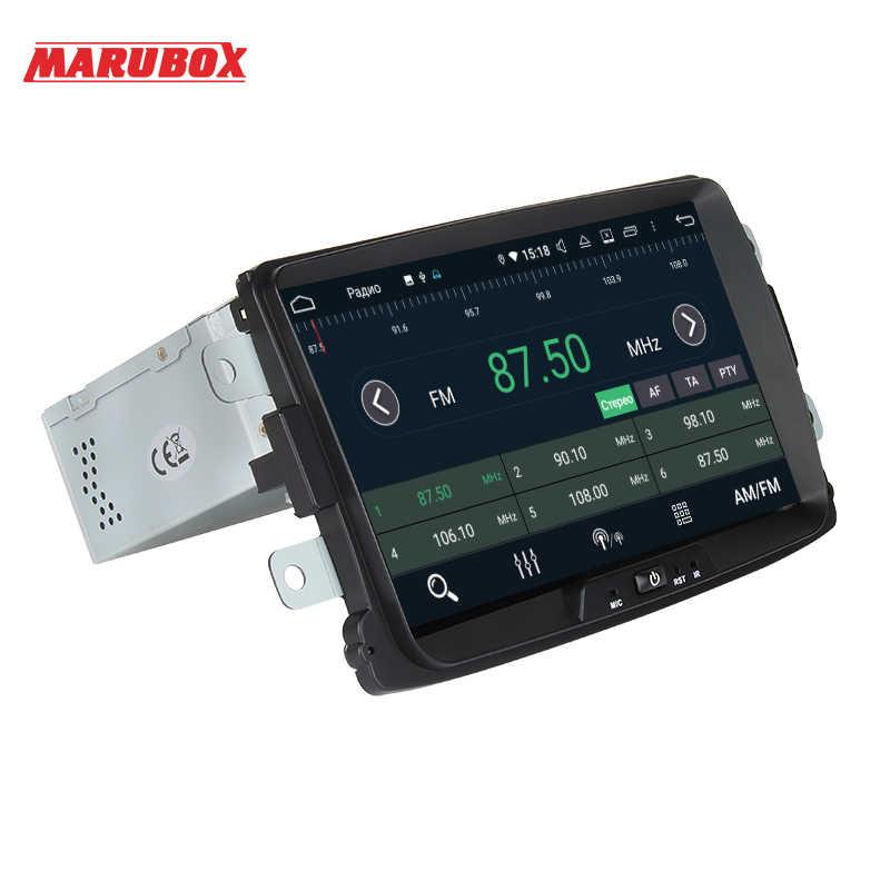 Marubox KD8308 için araba multimedya oynatıcı Renault Logan, Sandero 2014-2018, 64GB araba radyo DSP ile, GPS navigasyon, Bluetooth