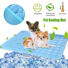 Dog Cooling Mat Summer Pad Mat For Cat Blanket Sofa Breathable Pet Bed Washable Cushion